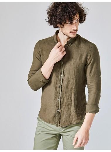 Xint Uzun Kollu Gömlek Haki